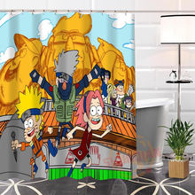 Custom Naruto Fabric Hot Modern Shower Curtain bathroom Best Nice 100% Polyester Waterproof