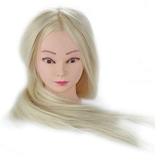 CAMMITEVER 20 Mannequin Practice Head Model Hair Cutting Mannikin With for Salon Hairdresser Makeup