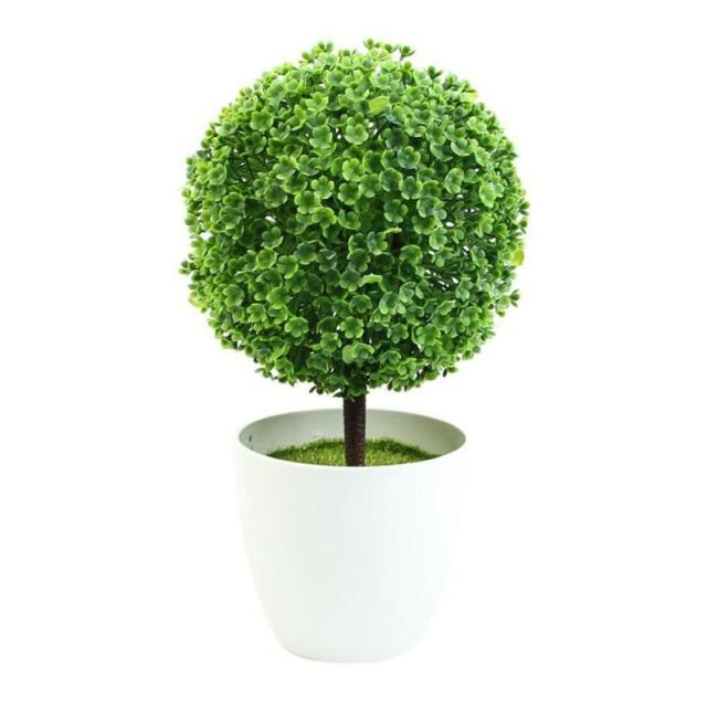1pc leafs trunk artificial fake plants plastic fabric home table