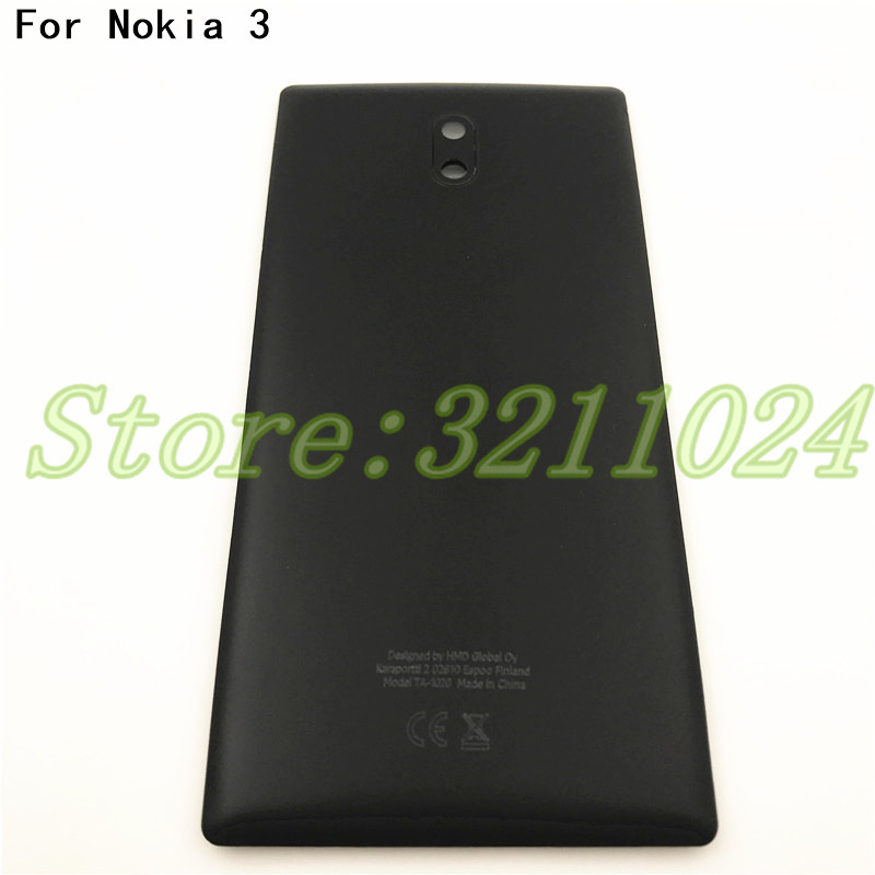 Good quality 5.0inches For <font><b>Nokia</b></font> <font><b>3</b></font> <font><b>Battery</b></font> <font><b>Cover</b></font> Housing Cases Back Door Rear Repair parts With Logo image