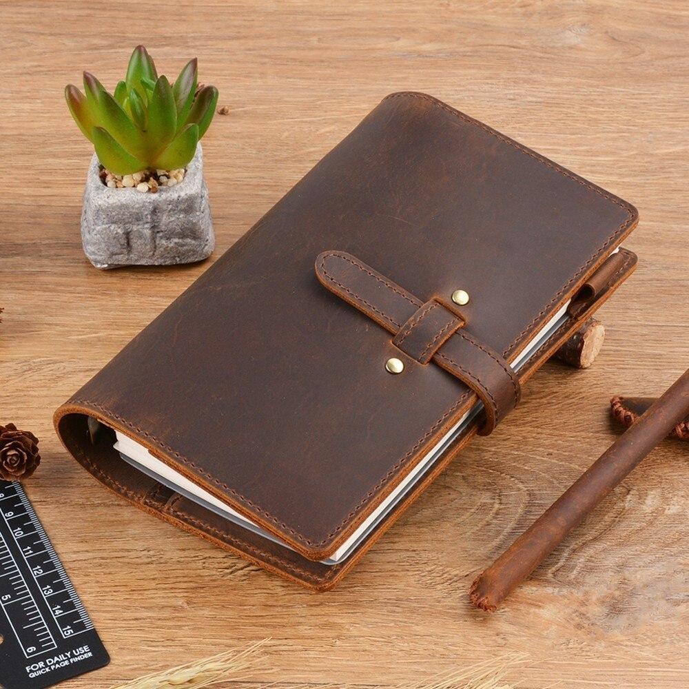 Moterm Vintage Genuine Leather Notebook Diary Travel Journal Planner Sketchbook Agenda DIY Refill Paper School Birthday Gift