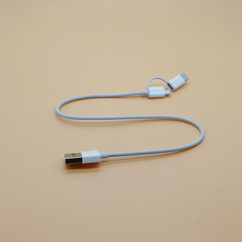 Image 4 - 30cm Original 2 in 1 Xiaomi Cable Micro USB Type C short Fast Quick Charging Cable for mi powerbank 8 se A2 redmi s2 6 pro cord-in Mobile Phone Cables from Cellphones & Telecommunications
