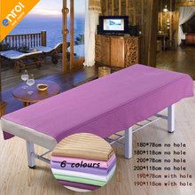 Beauty Salon Spa Massage Bed Sheet 80x190/120x190cm 100% Cotton Plain Flat  Sheet Table