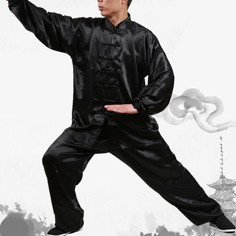 Unisex Wushu Clothing Martial Arts Faux Kung Fu Suit Men Tai Chi Uniform Taijiquan Costume Wing