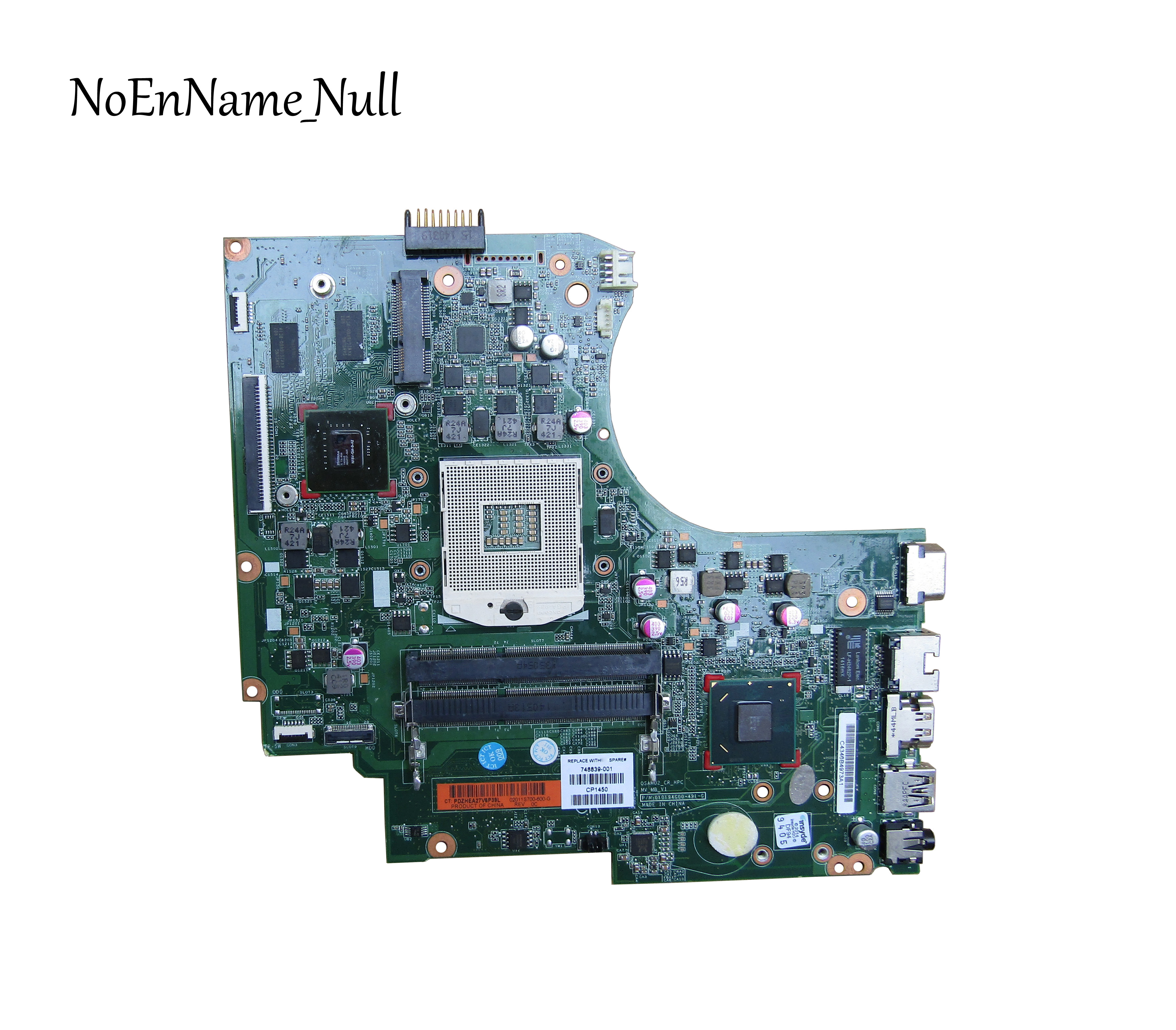 748839-001 Free Shipping 748839-501 Board For HP 15 15-D 250-G2 Laptop Motherboard With HM76 Chipset DSC 820M/1G