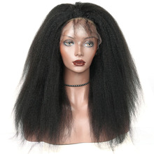Kinky Straight Wig 250% High Density Lace Front Human Hair Wigs For Women Brazilian Wig Virgin Hair With Baby Hair CARA