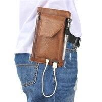 Yiang Многофункциональный Для мужчин из искусственной кожи талии пакеты Fanny Pack 3 Чехол кошелек для 4.7 ''-6.3'' мобильный телефон сумки с держателем...