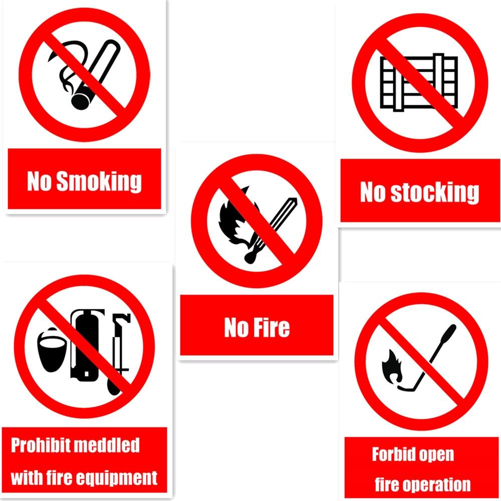 Warning Safety Sign Self Adhesive Stickers No Smoking