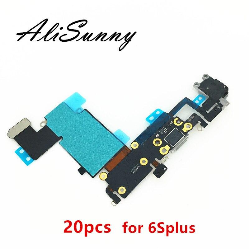 AliSunny 20pcs Charging Port Flex Cable for iPhone 6s Plus 5 5 6Splus 6SP USB Dock
