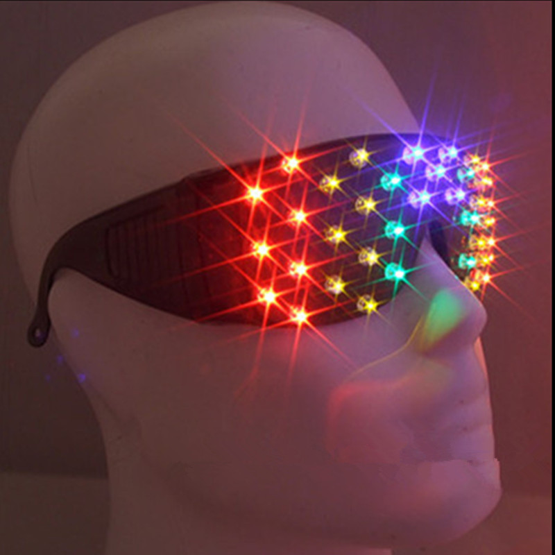 New Design Novelty Colorful Led Luminous Glasses Light Up Illuminate SunGlasses Christmas Gift For Rave Costume Party Supplies
