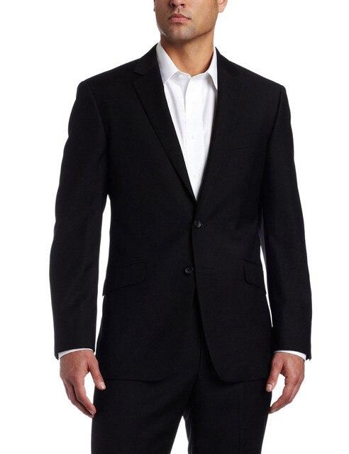 2016 Классический стиль Две Кнопки Черный Свадьба/Пром Одежда Жених Одежда Смокинги Slim Fit Жених Формальный Костюм (Куртка + брюки)