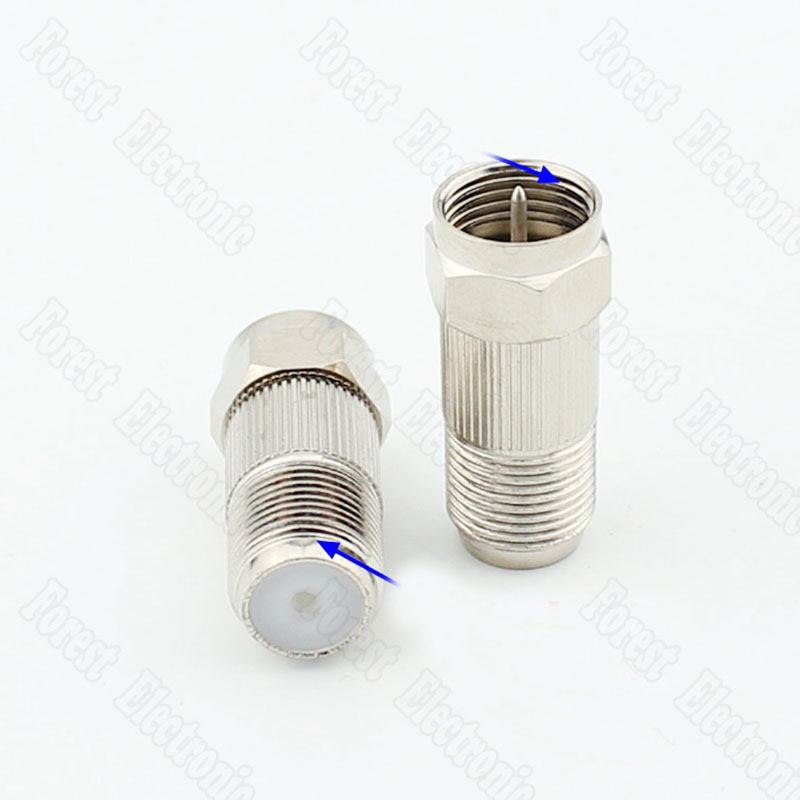 Forest Electronic Store F Head Metric Male To Imperial Female Adapeter Internal/External thread Connector Adapter