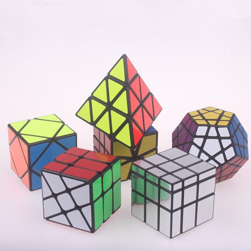 Rompecabezas específico Pyramidcube Magic Speed Cubo Magico Profissional Set Megaminxeds Mastermorphix ruedas forma especial espejo Cubo