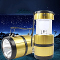 Camping Hand Lamp Solar Powered LED Collapsible Portable Lantern Tent Light Powerbank for Outdoors Camp Hiking Fishing Hunting