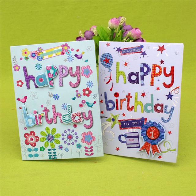 40pcs 3d Letters Handmade Music Birthday Greeting Card With Envelope