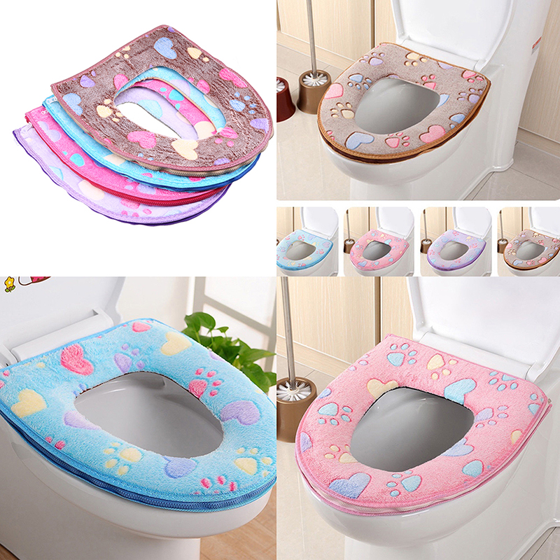 Toilet Seat Warmer Cover.Us 4 17 Whism Winter Toilet Seat Warmer Plush Thicken Carpet Toilet Seat Cover Soft Comfortable Baby Seat Overcoat Bathroom Toilet Cover In Toilet