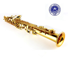 Soprano Saxophone XSS-100 Electrophoresis Gold Top Musical Instruments Sax Soprano professional grade free shipping