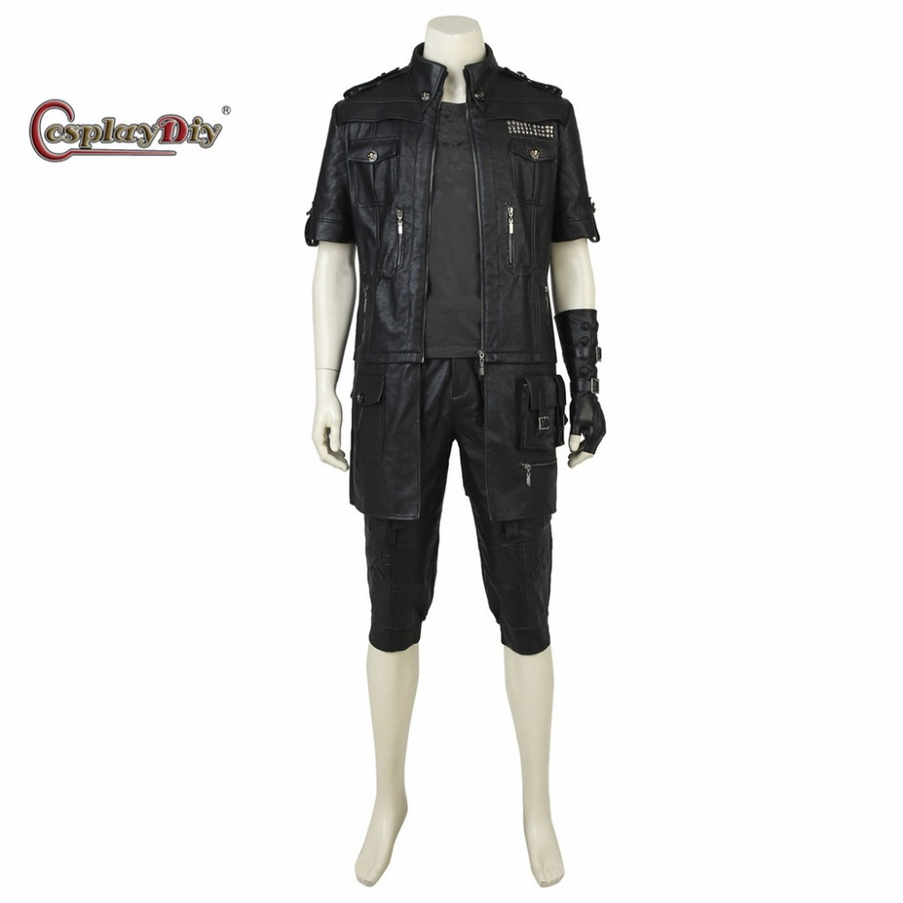 Cosplaydiy Custom Made Final Fantasy XV Noctis Lucis Caelum Cosplay Costume Adult Men Halloween Cosplay Outfit Without Shoes  J5