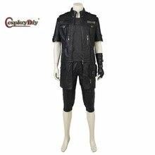 Cosplaydiy Custom Made Final Fantasy XV Noctis Lucis Caelum Cosplay Costume Adult Men Halloween Cosplay Outfit