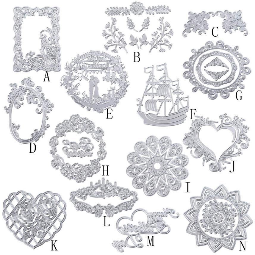 14 patterns New Metal Cutting Dies Stencil DIY Scrapbooking Embossing Album Paper Card Craft Levert Dropship mar8