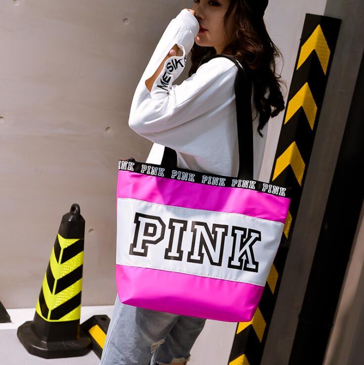 2018 Happy pink girl travel handbag women Travel Business Handbags Victoria beach shoulder bag large secret capacity bags victoria u0027s secret купальники недорого