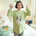 2017 spring thicken pregnant home clothes maternity nursing pajamas pregnancy home clothing lactation clothes cartoon sets