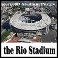 3D головоломки футбольный стадион Рио стадион модель головоломка Игры Бразилии Стадион сувенирные Игрушки Хэллоуин Рождество