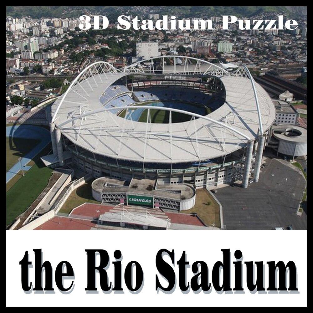 3D puzzle football stade Rio stade modèle de puzzle Jeux Brésil Stade souvenir Jouets Halloween Noël