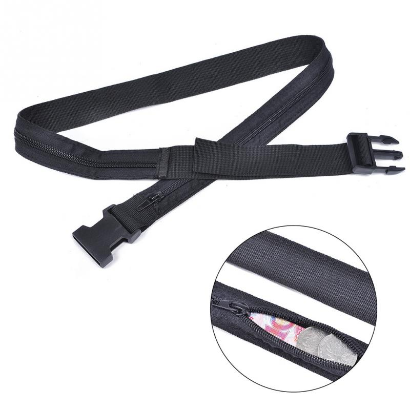 Travel Anti Theft Wallet Belt Waist Money Belt With Secret Compartment Hiding Stash Money Nylon Safe Pouch Wallet Ticket Protect