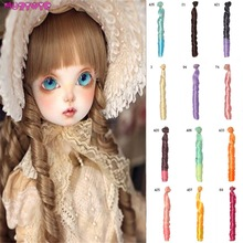 1pc 25*100cm Synthetic Fiber Doll Wigs for BJD/Blyth/American Dolls Roman Curly DIY Hair Accessories