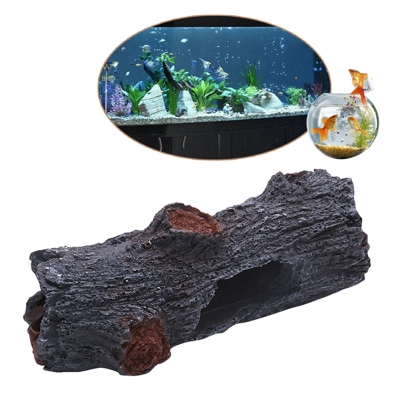 Online buy wholesale decorative wood trunk from china for Aquarium log decoration