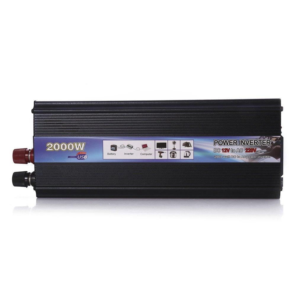 Prix pour Professionnel 2000 W W Voiture Onduleur DC 12 V à AC 220 V Onduleur Chargeur Transformateur Véhicule Onduleur Interrupteur D'alimentation
