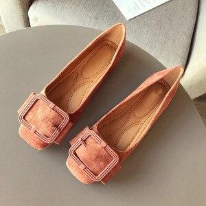 Image 2 - 2020 modne buty damskie wiosna jesień mieszkania miękkie Slip On kobieta balet pojedyncza klamerka do butów damskie damskie obuwie Plus size