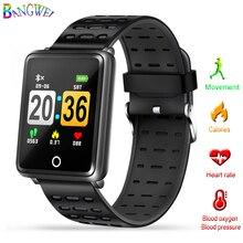 b4862b0f0 2018 جديد BANGWEI الرياضة ووتش عمق IP68 للماء ساعة ذكية ضغط الدم مراقب معدل  ضربات القلب