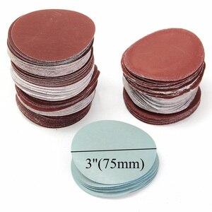 """Image 2 - 100 disques abrasifs, 3 """""""", 75mm, pour mélange abrasif, P80 P3000 tampons"""