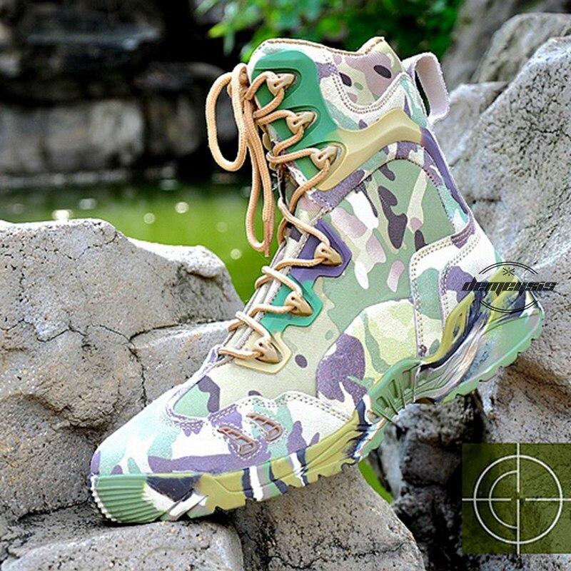 Multicam hommes armée bottes hommes militaires tactiques bottes en plein air randonnée désert cuir bottines hommes Combat Botas