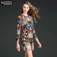 Factory outlests new fashion cartoon pattern silk dress female printed hollow cut split design hip dress wq2337 wholesale