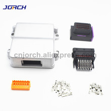 1 kits set 24 pin way waterproof aluminum single hole cng automotive toyota motorcycleecu for sale with matching connector