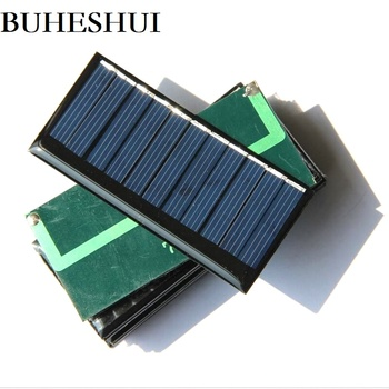 BUHESHUI Solar Cell Polycrystalline 60MA 5.5V Solar Panel Charger For Battery Light Education Toy 75*35MM Epoxy Wholesale 100pcs