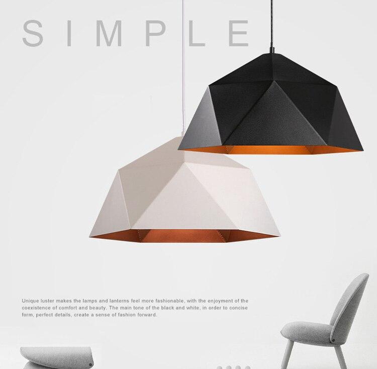 Industry iron pendant light Nordic hanging lights Modern Pendant Lights Hanging Lamps Home Lighting Fixture Deco Black