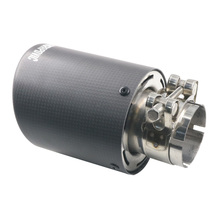 IN 48mm OD 101mm Matt  Black Carbon Fiber Car Exhaust Muffler Pipe End Tips Tail Throat