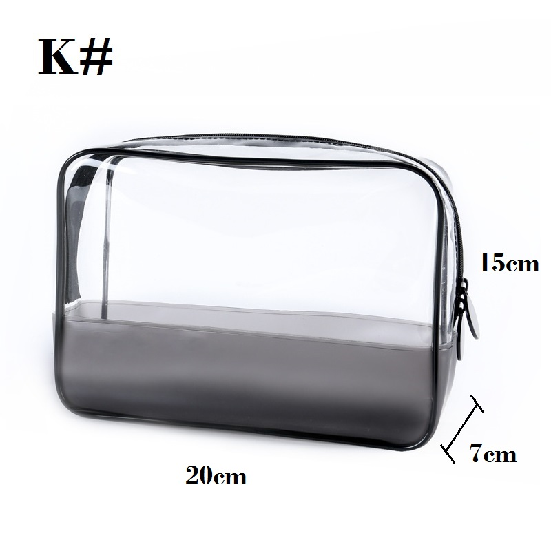 Transparent Cosmetic Bag Varieties Sizes Girl Makeup Bags Zipper Pouch Clear Large Medium Small Mini Circle Square in Cosmetic Bags Cases from Luggage Bags