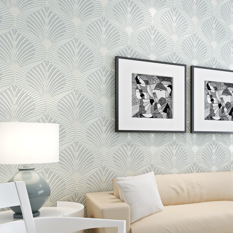 beibehang Modern minimalist amazing striped 3D embossed non-woven wallpaper background bedroom living room wall modern minimalist embossed silver gray non woven wavy wallpaper living room bedroom sofa background for walls striped wallpaper