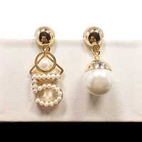 E109 Pearl Number 5 CC Style Long Dangle Chain Famous Brand Designer Luxury Jewelry Jewlery Brincos