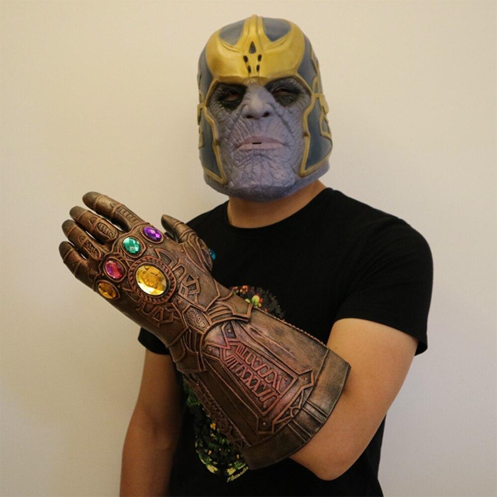 Avengers of the Tanos Infinity Gauntlet Cosplay Leggings Supporting Halloween Hard Latex Avengers: Infinity War Mask