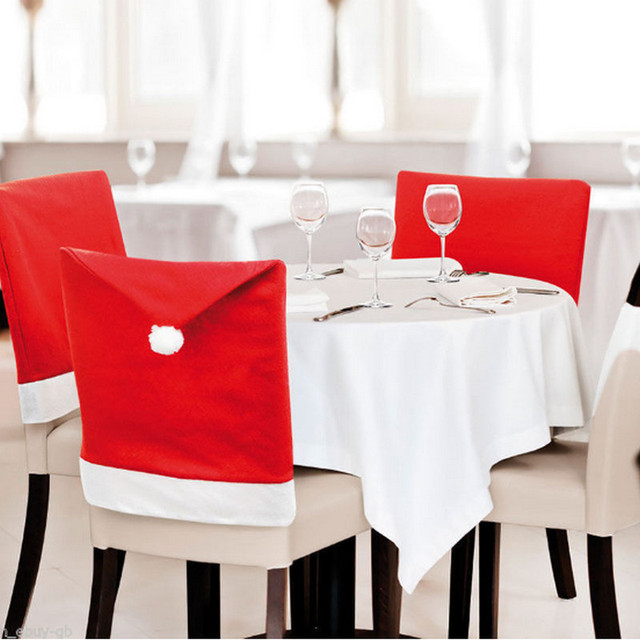 1 Piece Christmas Chair Covers For Christmas Chair Hat Decoration
