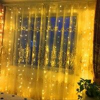6M x 1.5M 288 Bulbs Curtain LED String Lights Decoration Christmas Garland Window Holiday Party Halloween Home Wedding Lights