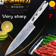 Sharp Kitchen Knife 8 inch Professional Chef Knives Japanese 7CR17 440C High Carbon Stainless Steel Meat Santoku Knife Colour wo(China)