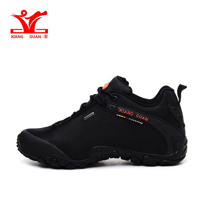 XIANGGUAN Outdoor hiking <font><b>shoes</b></font> EUR size 39-48 man Breathable anti-skid windproof black travel <font><b>shoe</b></font> Trend sport sneakers walking