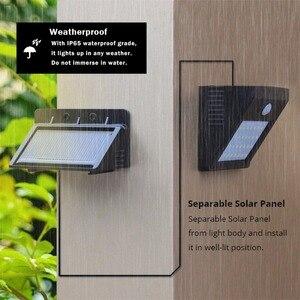 Image 3 - LED Güneş Gece Lambası Açık PIR Hareket Sensörü Güneş Enerjisi LED duvar lambası Için Ayrılabilir Yard Bahçe Kapı Yolu güvenlik aydınlatması
